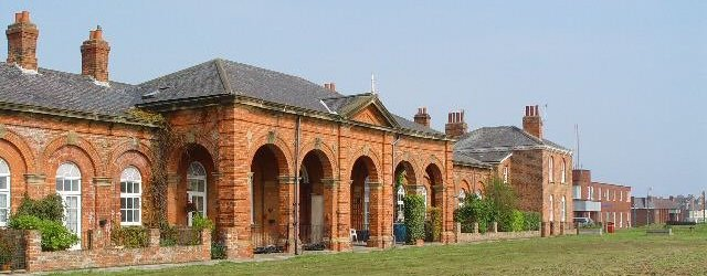 Disused railway station at Hornsea, East Yorkshire